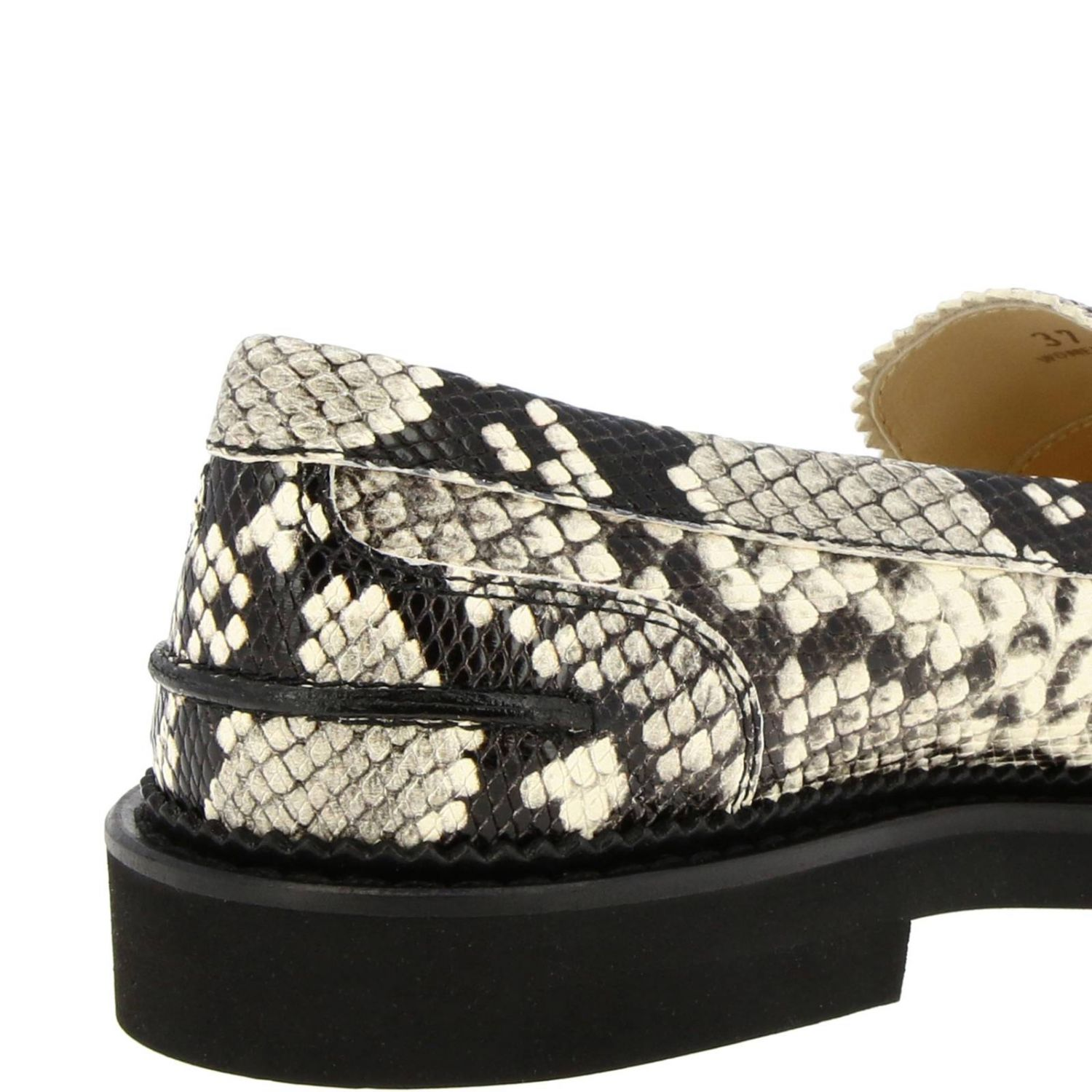 Loafers Tods: Tod's loafers in python-print leather with crossbar and rubber sole grey 4