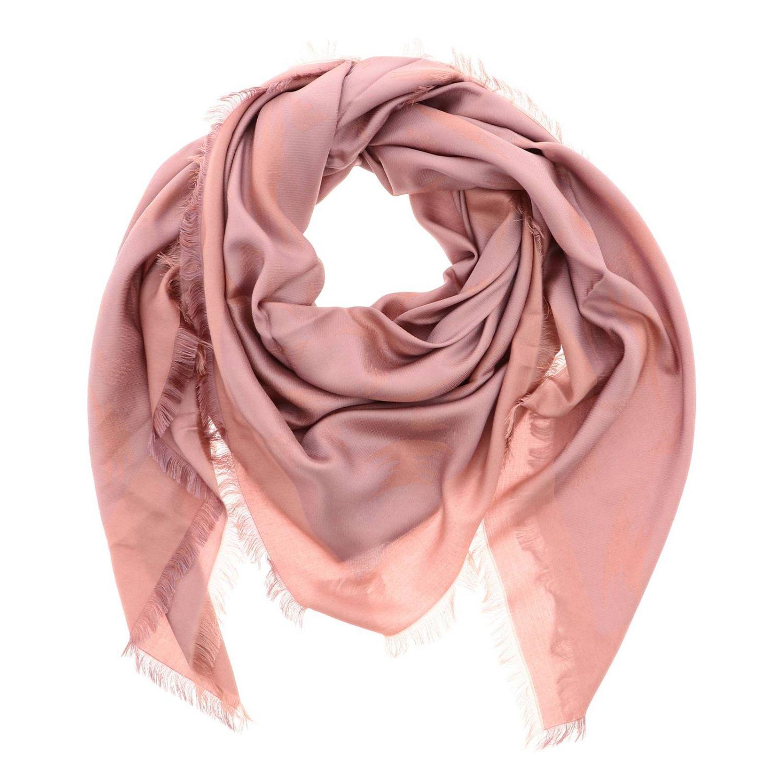 Châle Emporio Armani avec fantaisie aigle all over en jacquard rose 2