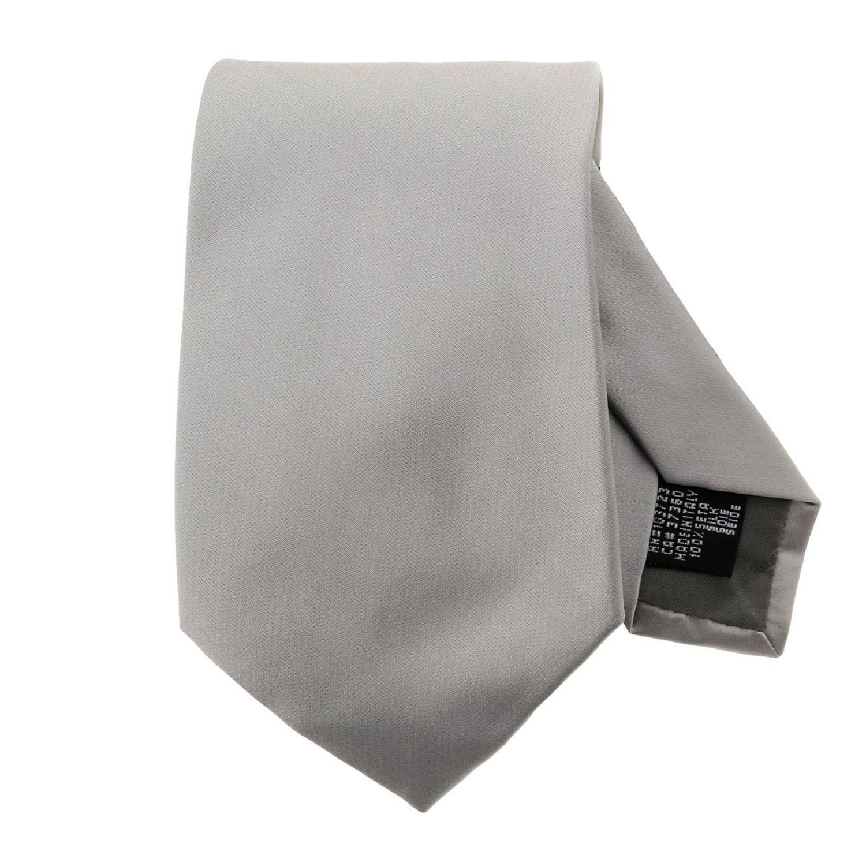 领带 Emporio Armani: Emporio Armani 7.5厘米真丝领带 珍珠色 1