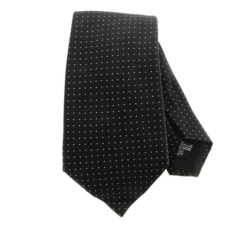 Tie Emporio Armani: Emporio Armani 7.5 cm tie in micro patterned silk black 1