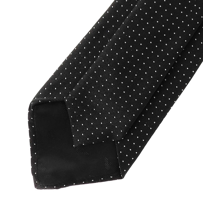 Tie Emporio Armani: Emporio Armani 7.5 cm tie in micro patterned silk black 2