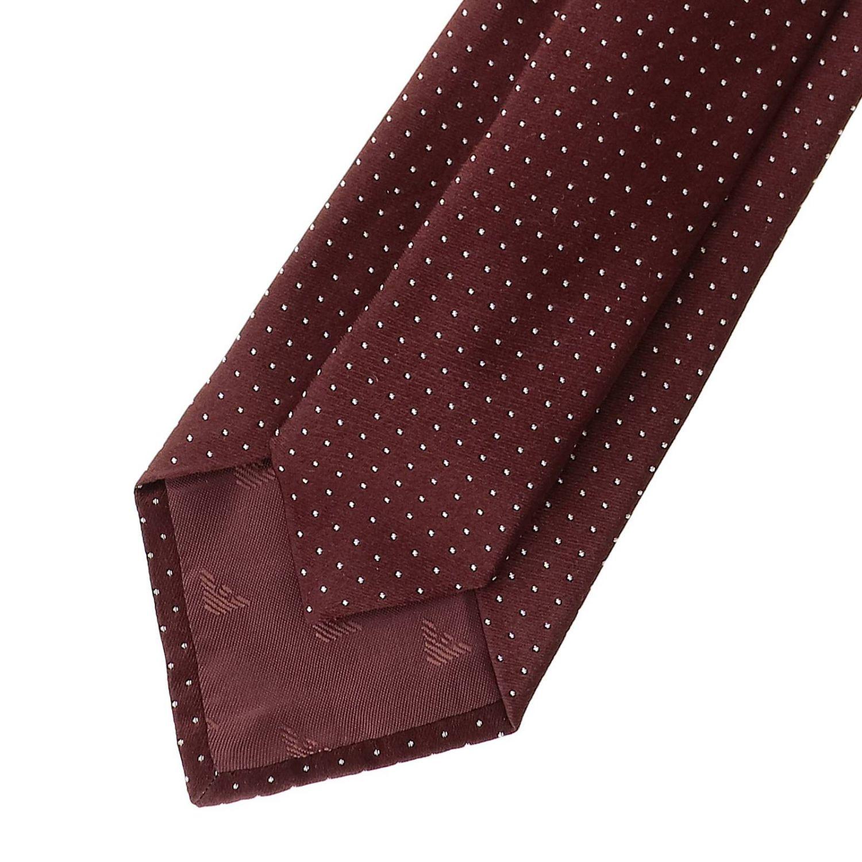 领带 Emporio Armani: Emporio Armani 7.5厘米迷你花纹真丝领带 酒红 2