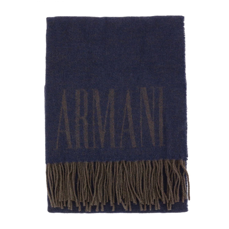 Scarf Emporio Armani: Scarf men Emporio Armani blue 1