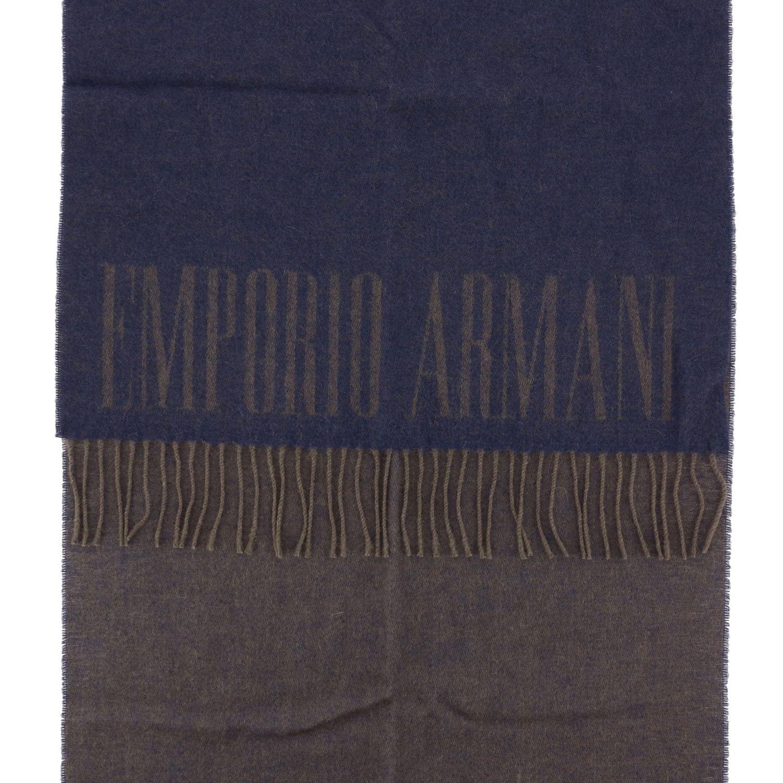 Scarf Emporio Armani: Scarf men Emporio Armani blue 3