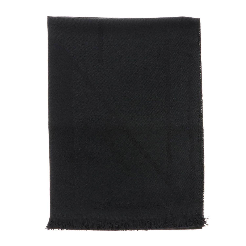 Schal Emporio Armani: Emporio Armani Schal aus gemischter Wolle mit Logo schwarz 1