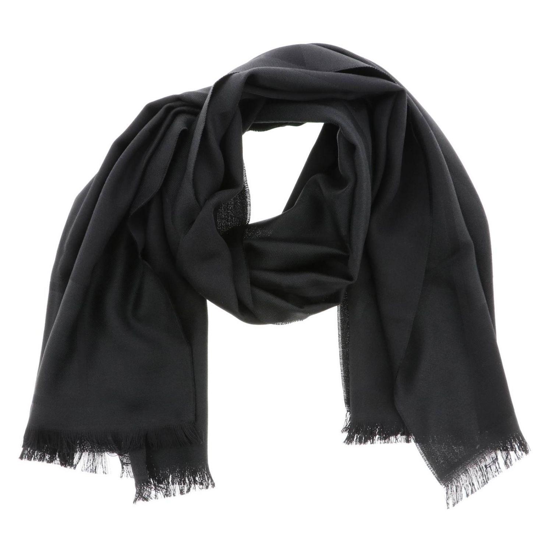 Schal Emporio Armani: Emporio Armani Schal aus gemischter Wolle mit Logo schwarz 2
