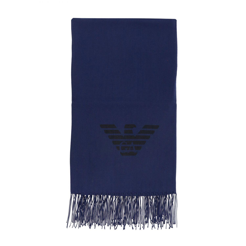 Schal Emporio Armani: Emporio Armani Schal aus Wolle mit Logo blau 1
