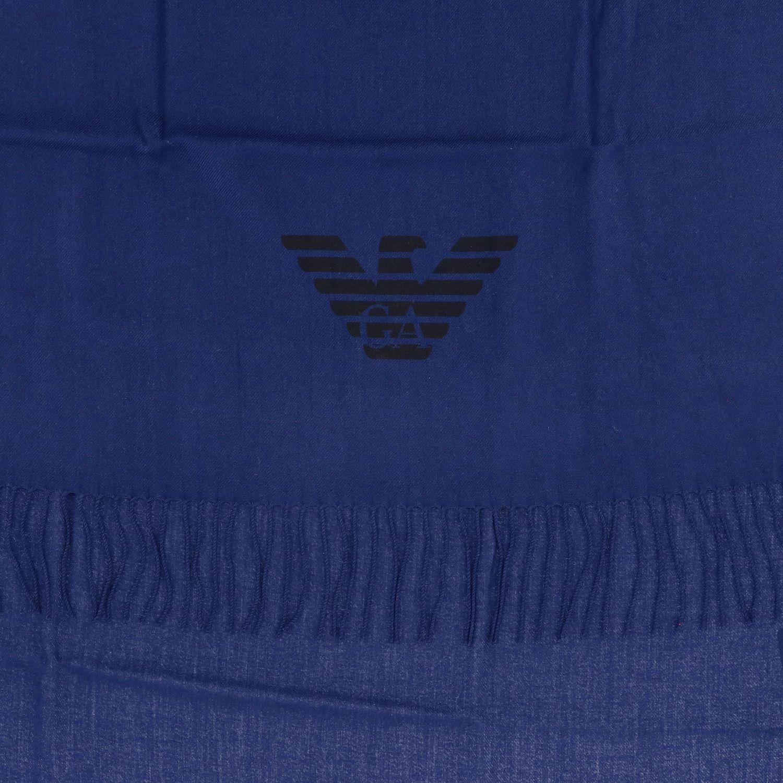 Schal Emporio Armani: Emporio Armani Schal aus Wolle mit Logo blau 3