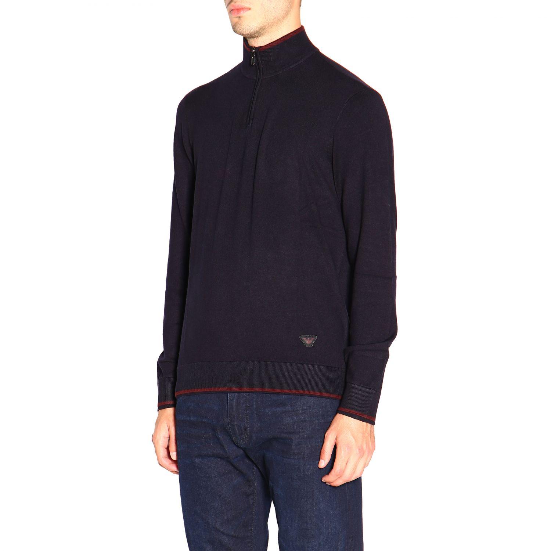 Sweater Emporio Armani: Sweater men Emporio Armani blue 4