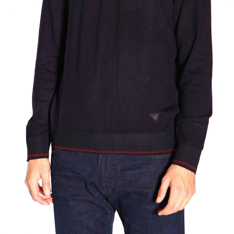 Sweater Emporio Armani: Sweater men Emporio Armani blue 5