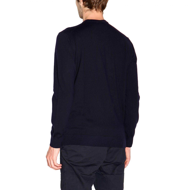 Emporio Armani 基本款长袖圆领羊毛毛衣 蓝色 2