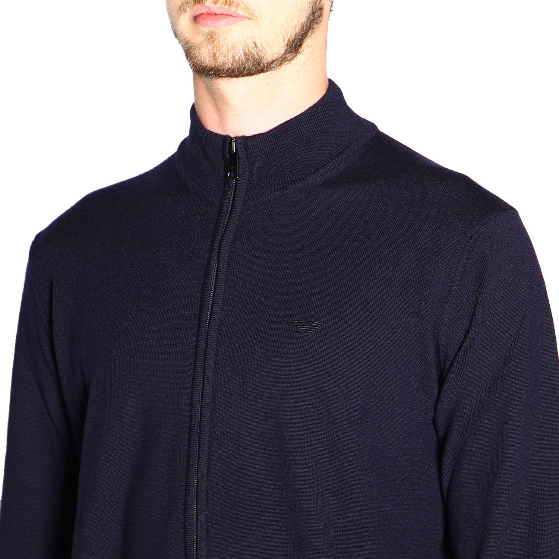 Jersey hombre Emporio Armani azul oscuro 5