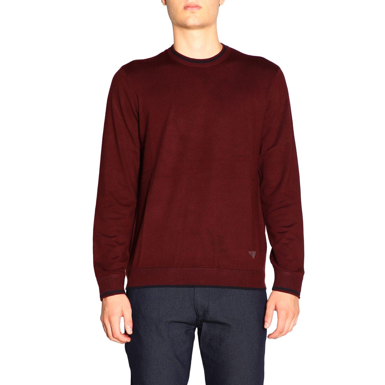 Sweater Emporio Armani: Sweater men Emporio Armani burgundy 1