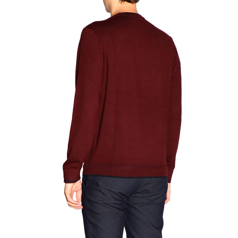 Sweater Emporio Armani: Sweater men Emporio Armani burgundy 3