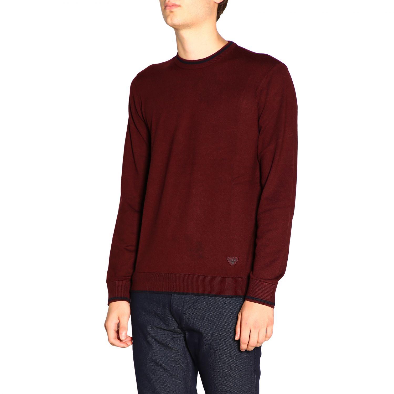 Sweater Emporio Armani: Sweater men Emporio Armani burgundy 4