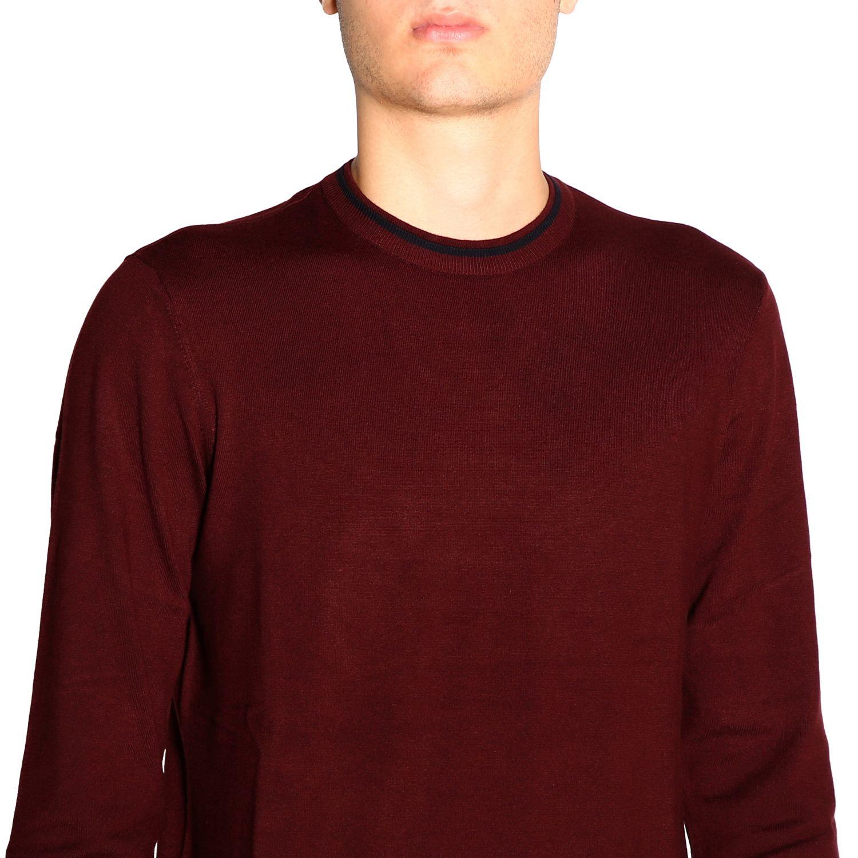 Sweater Emporio Armani: Sweater men Emporio Armani burgundy 5