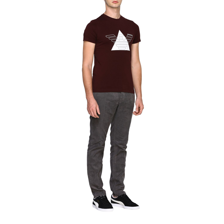 T-Shirt Emporio Armani: Emporio Armani T-Shirt mit Maxi-Print burgunderrot 2