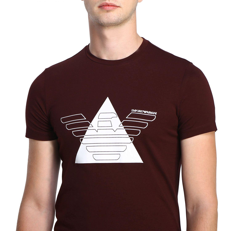 T-Shirt Emporio Armani: Emporio Armani T-Shirt mit Maxi-Print burgunderrot 5
