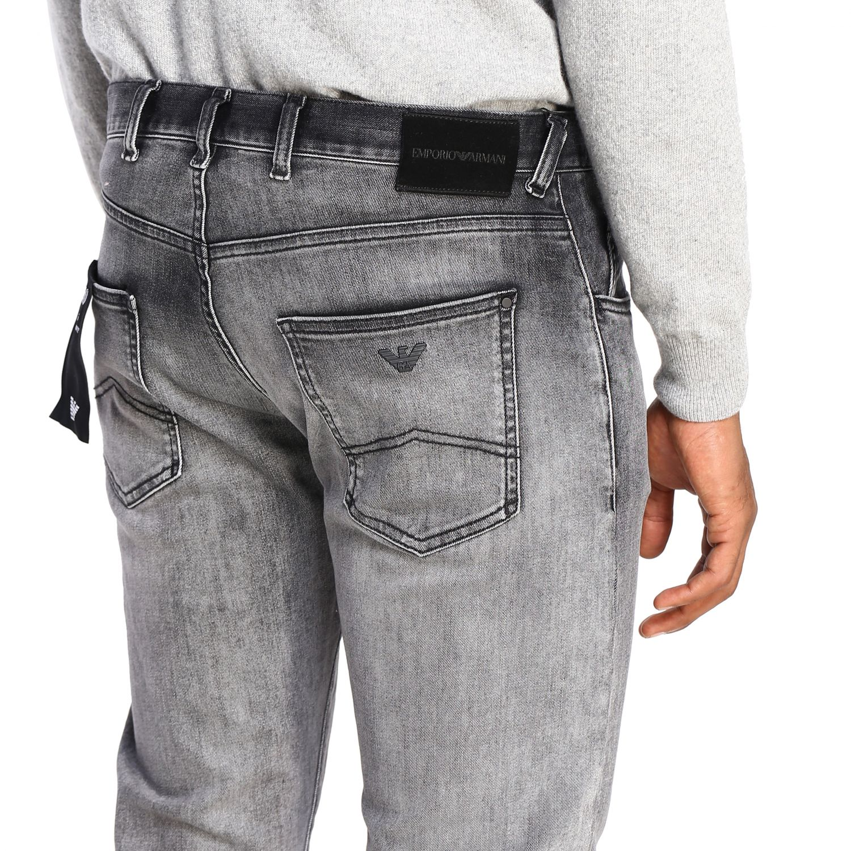 Jeans Emporio Armani: Jeans men Emporio Armani grey 5