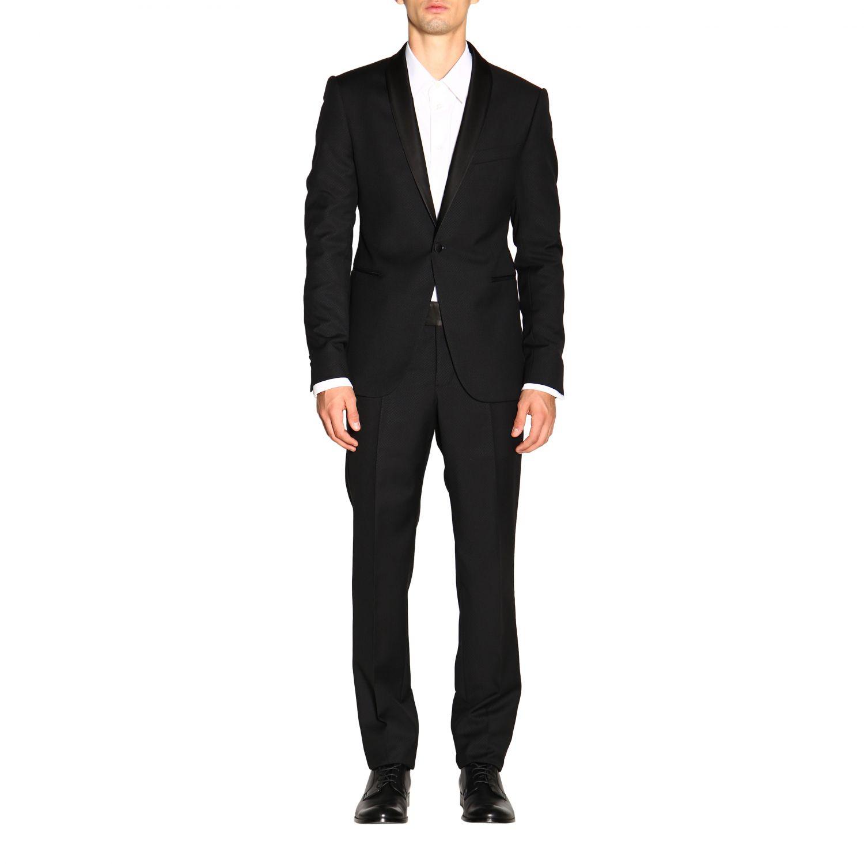 Anzug Emporio Armani: Emporio Armani Smoking aus Wolle 250 gr Drop 7 schwarz 1