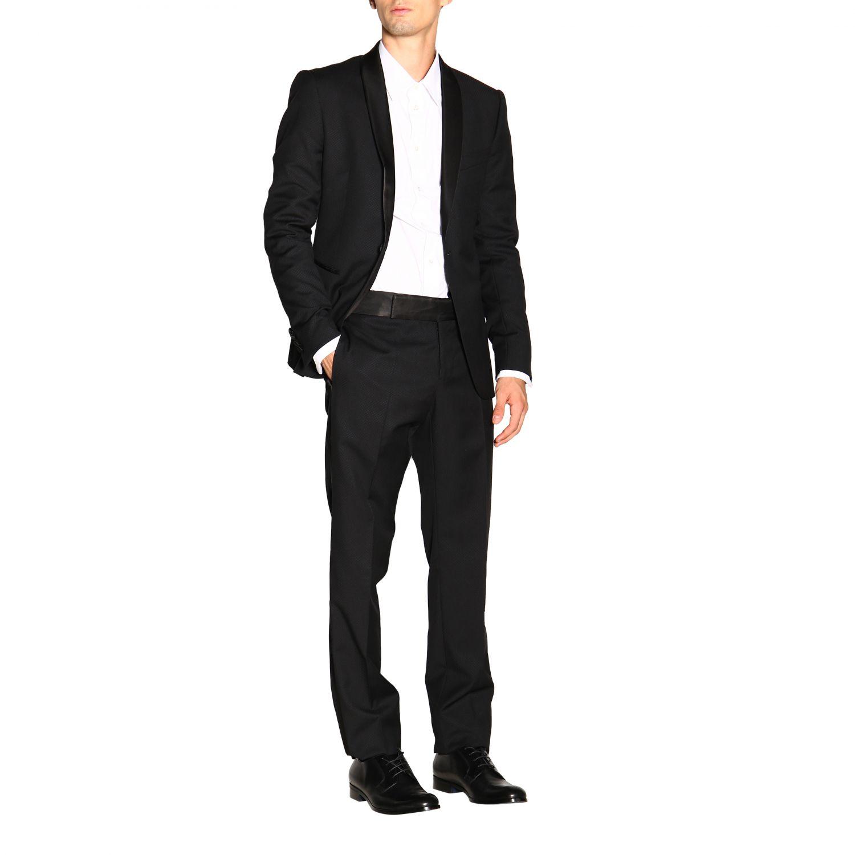 Anzug Emporio Armani: Emporio Armani Smoking aus Wolle 250 gr Drop 7 schwarz 2