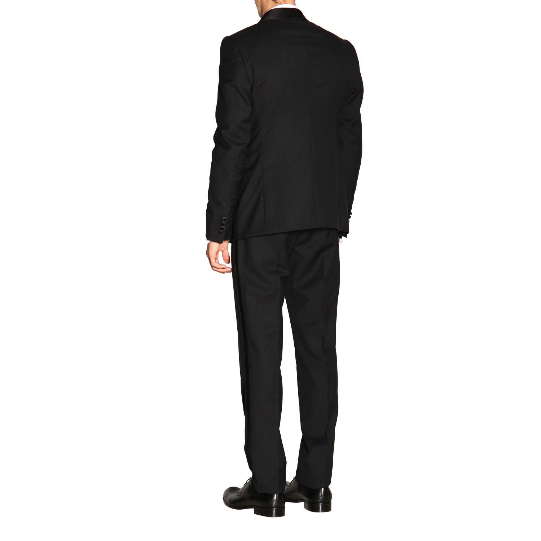 Anzug Emporio Armani: Emporio Armani Smoking aus Wolle 250 gr Drop 7 schwarz 3