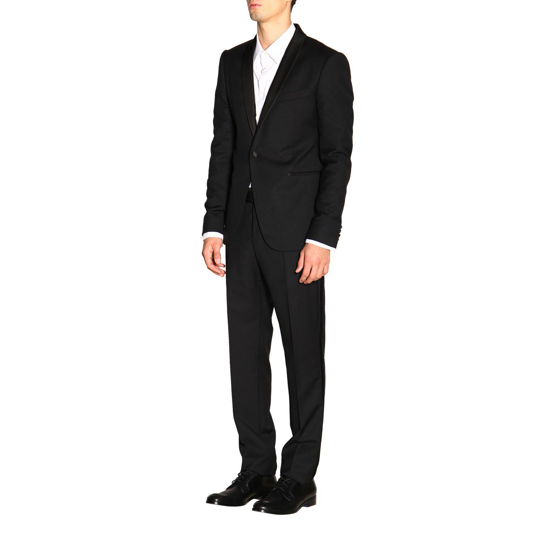 Anzug Emporio Armani: Emporio Armani Smoking aus Wolle 250 gr Drop 7 schwarz 4
