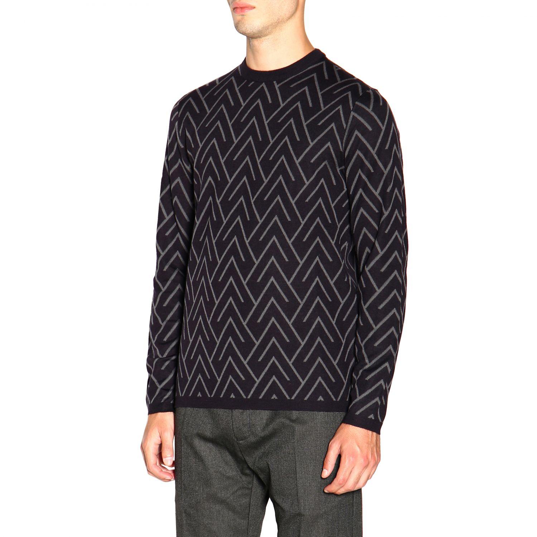 Sweater men Emporio Armani blue 4