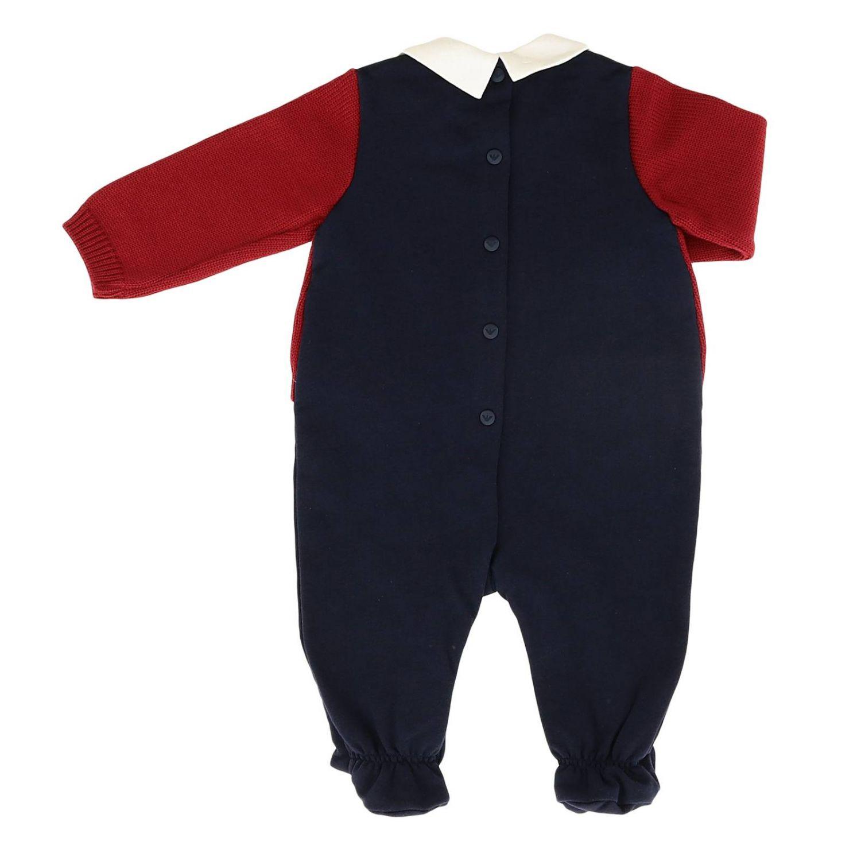 Barboteuse Emporio Armani: Body bébé en jersey Emporio Armani avec cardigan tressé bleu 2