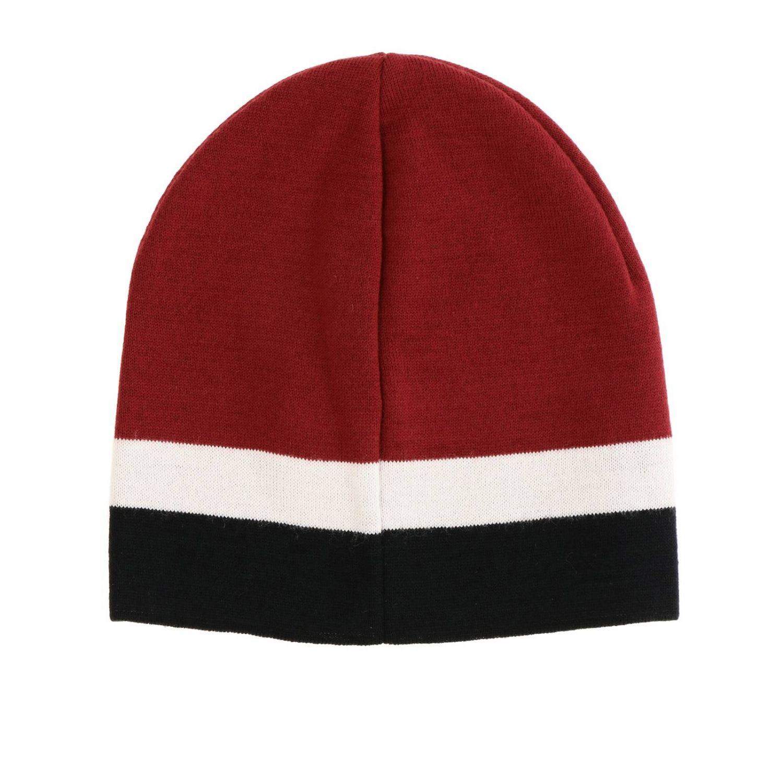 Cappello Emporio Armani con logo bicolor bordeaux 2