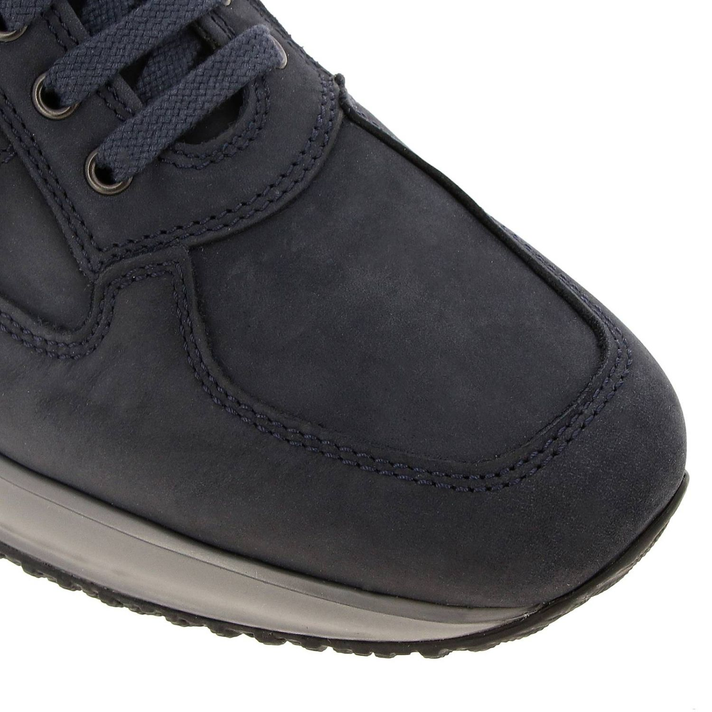 Sneakers Interactive Hogan in nabuk con H bombata blue 3