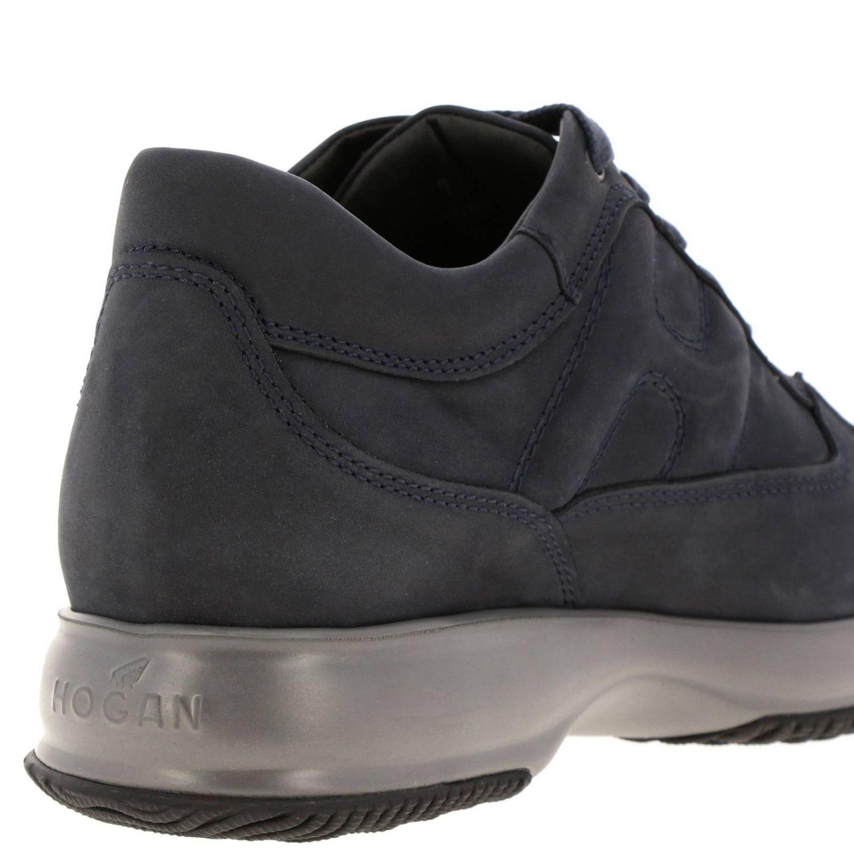 Sneakers Interactive Hogan in nabuk con H bombata blue 4