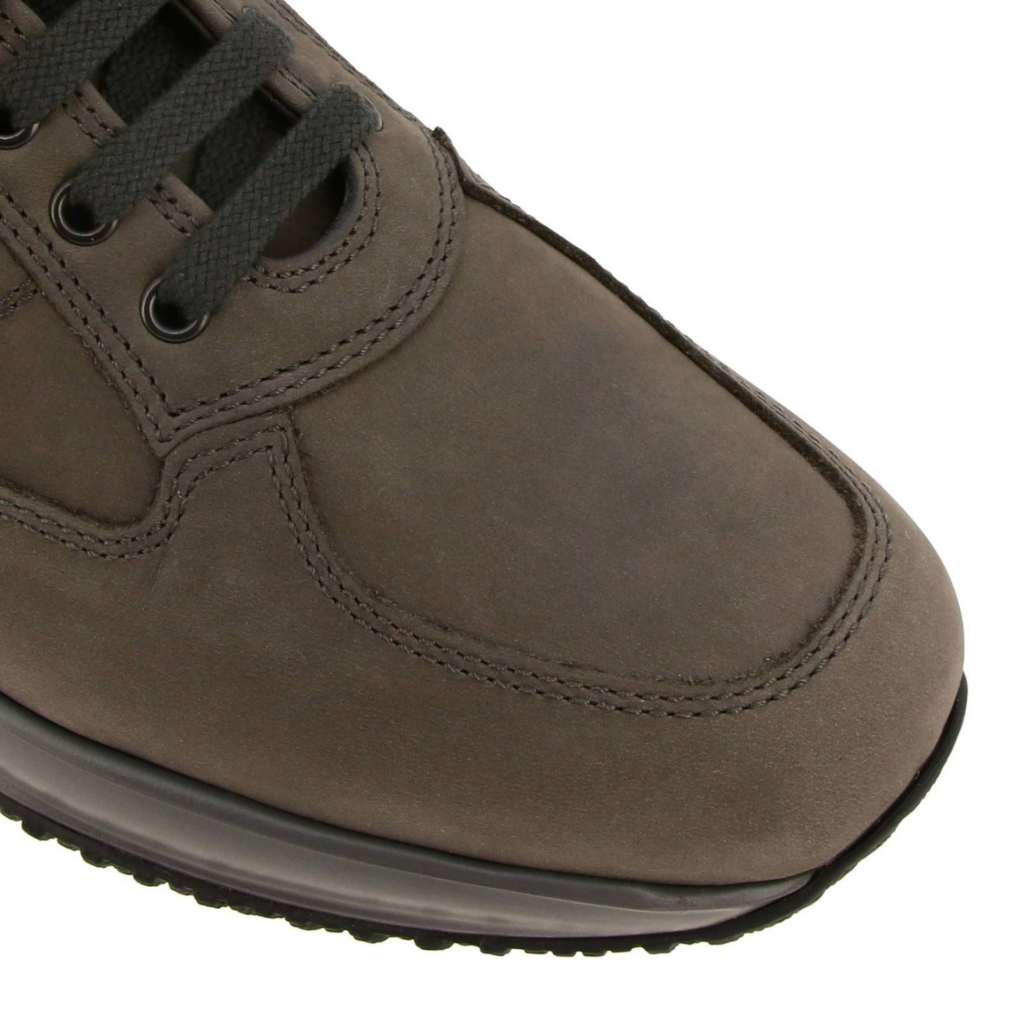 Interactive Hogan nubuck sneakers with rounded H mud 3