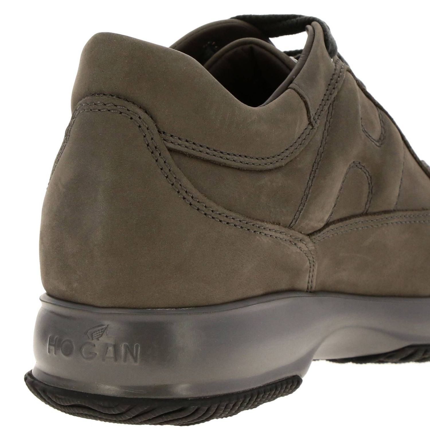 Interactive Hogan nubuck sneakers with rounded H mud 4