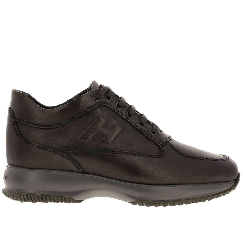 Hogan Interactive运动鞋,采用皮革,H字型压纹 灰色 1