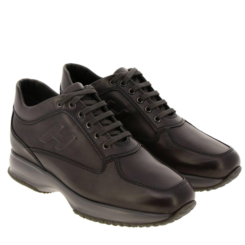 Hogan Interactive运动鞋,采用皮革,H字型压纹 灰色 2