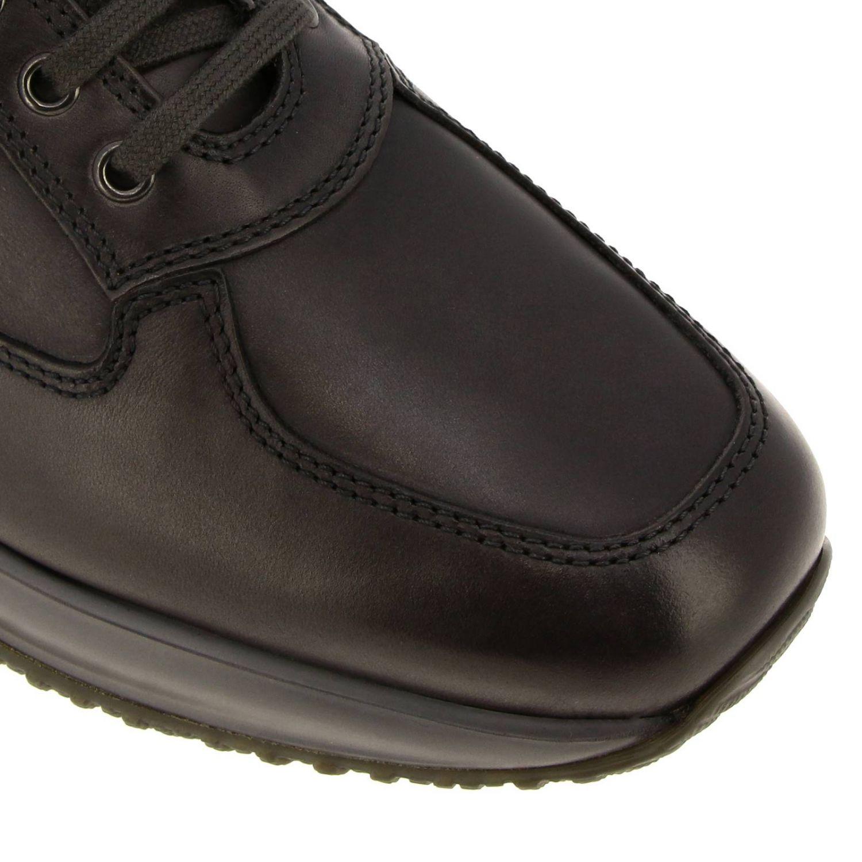 Hogan Interactive运动鞋,采用皮革,H字型压纹 灰色 3