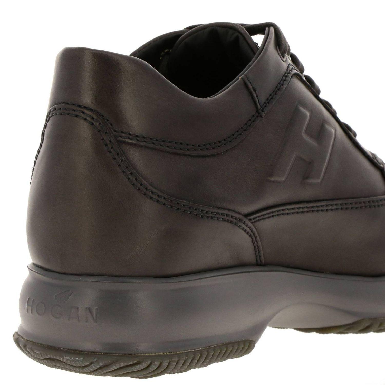 Hogan Interactive运动鞋,采用皮革,H字型压纹 灰色 4