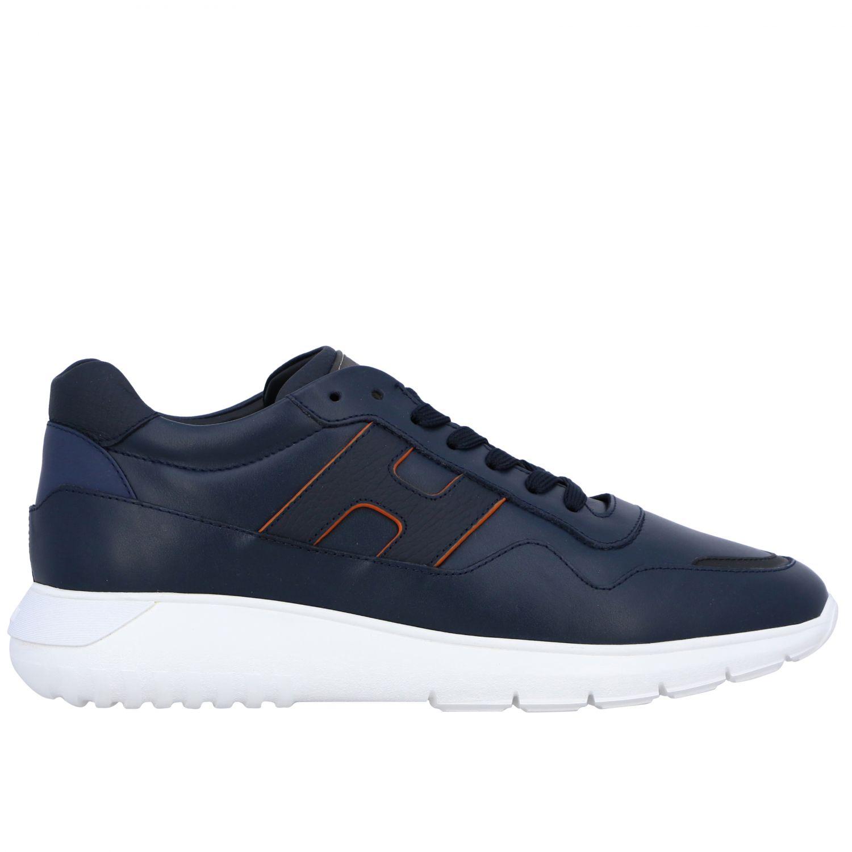 运动鞋 Hogan: Hogan Interactive 3 光滑真皮H装饰运动鞋 蓝色 1