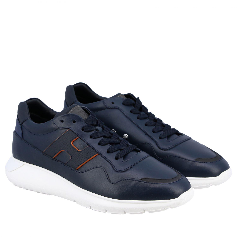 运动鞋 Hogan: Hogan Interactive 3 光滑真皮H装饰运动鞋 蓝色 2