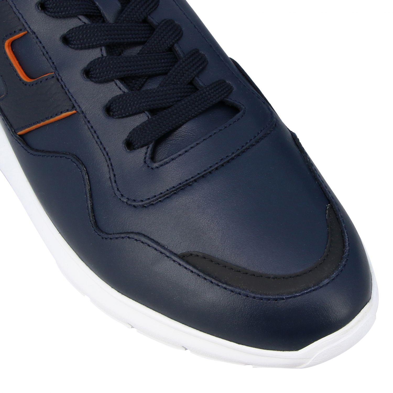 运动鞋 Hogan: Hogan Interactive 3 光滑真皮H装饰运动鞋 蓝色 4