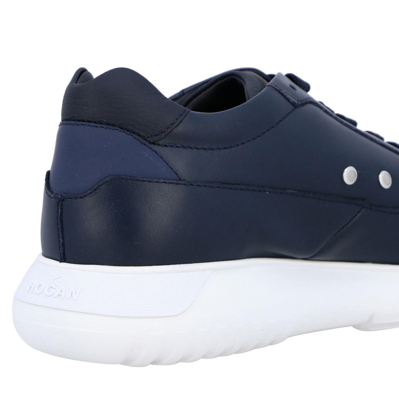 运动鞋 Hogan: Hogan Interactive 3 光滑真皮H装饰运动鞋 蓝色 5