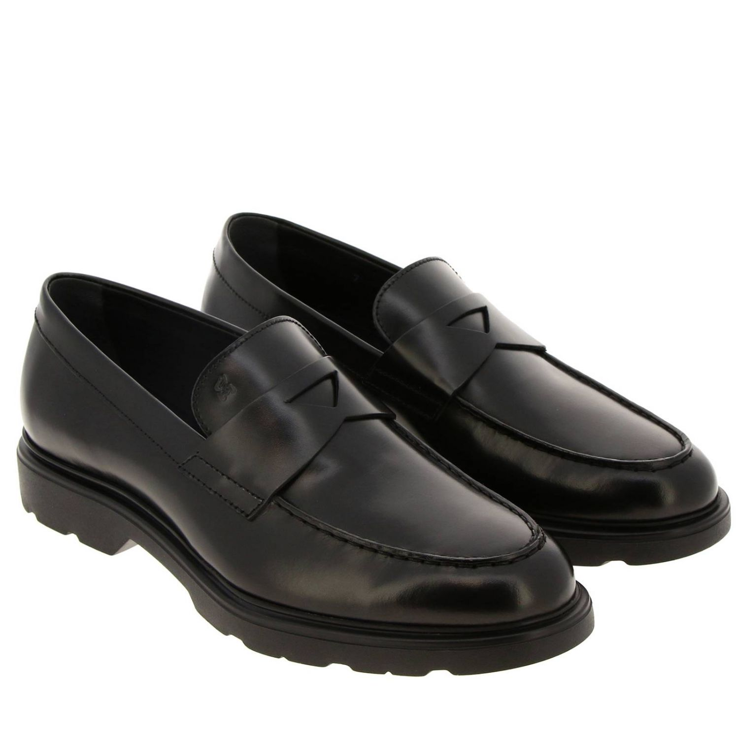 Route 393 loafers (H304 memory sole) Hogan in brushed leather
