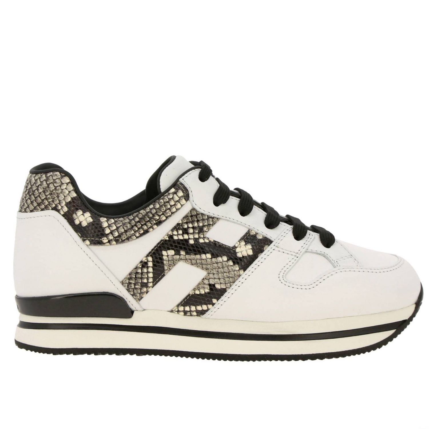222 Hogan sneakers in leather with H snake print