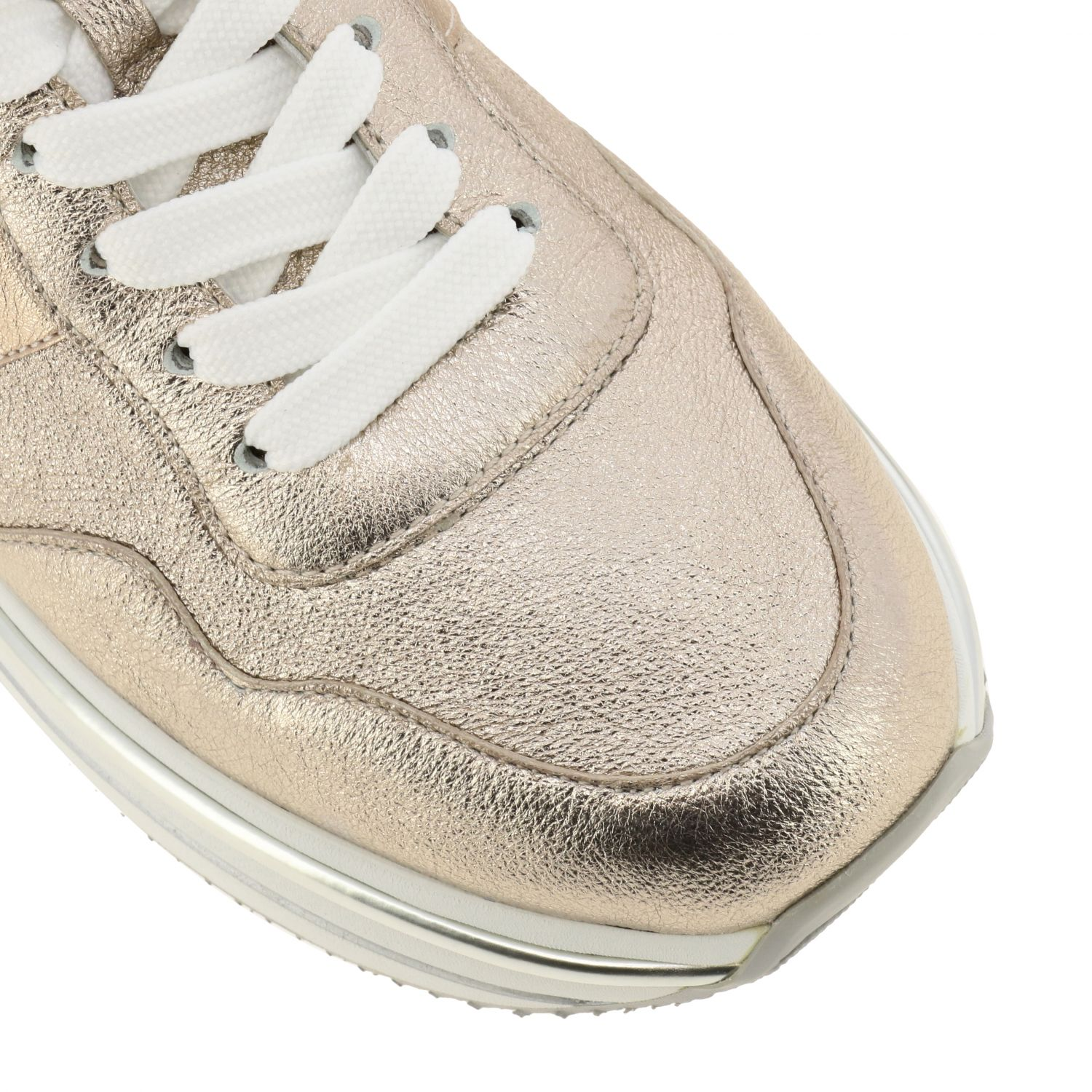 Hogan sneakers in laminated and mirrored leather with sole 222 pink 4