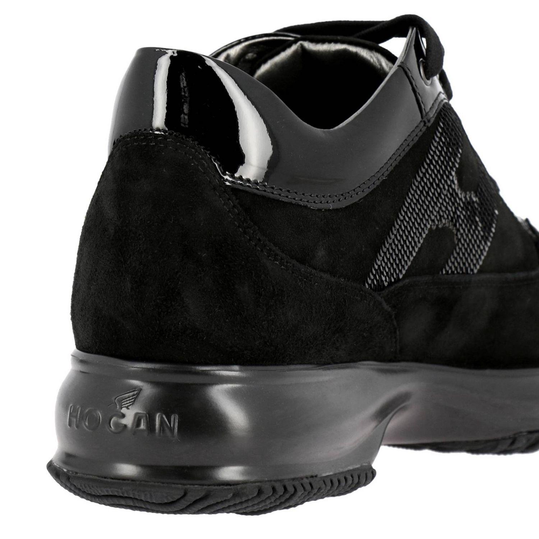 Hogan Interactive绒面革运动鞋,配有H字型亮片 黑色 4