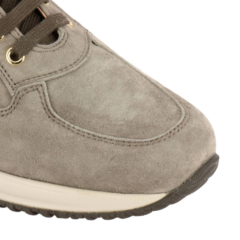 Sneakers Hogan: Hogan Interactive suede sneakers with flower-shaped micro studs grey 1 3