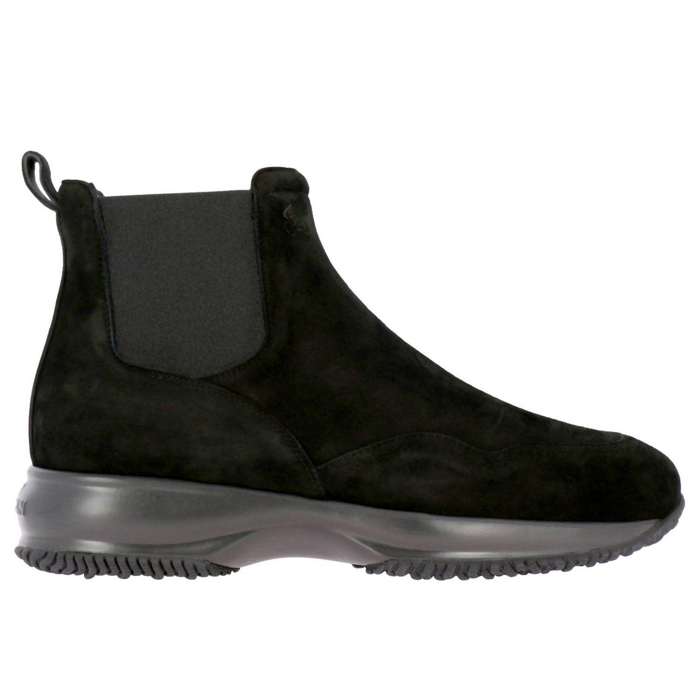Hogan Interactive Chelsea运动鞋,采用绒面革,松紧带设计 黑色 1