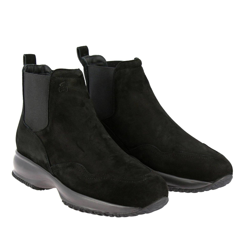 Hogan Interactive Chelsea运动鞋,采用绒面革,松紧带设计 黑色 2