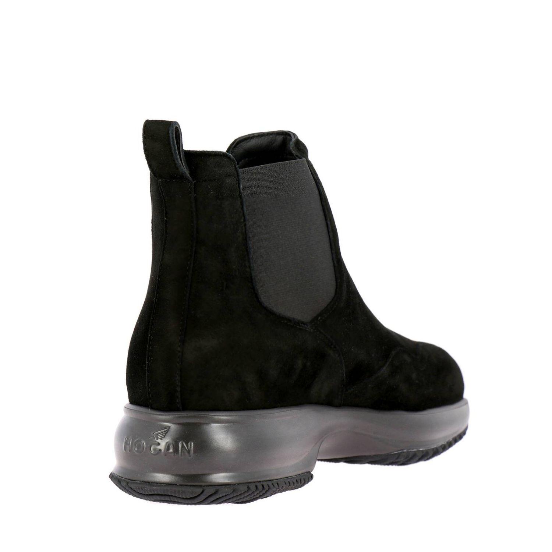 Hogan Interactive Chelsea运动鞋,采用绒面革,松紧带设计 黑色 4
